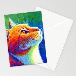 Rainbow Cat Portrait Stationery Cards