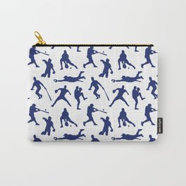 Blue Baseball Players Carry-All Pouch
