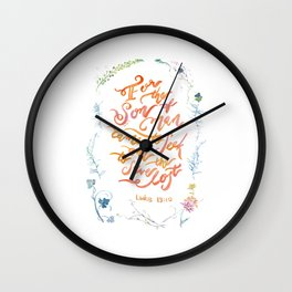 The Son of Man - Luke 19:10 Wall Clock