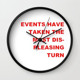 The Events & the Evaluation of 2016 (Variation on a net meme) Wall Clock