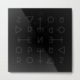 Sator Square Metal Print