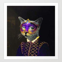 Cool Animal Art - Cat Art Print
