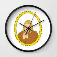 tenenbaum Wall Clocks featuring Margot Tenenbaum by Whiteland