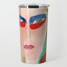Pop Girl Albert Camus Words Travel Mug