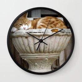 Zen cat 2 Wall Clock