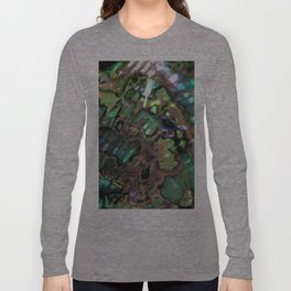 Oil Slick Abalone Mother Of Pearl Long Sleeve T-shirt