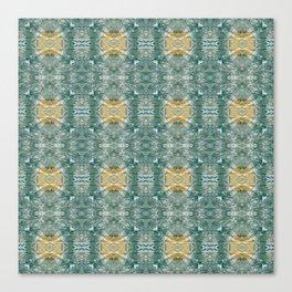 Copper Turquoise Southwestern Kaleidoscope Bold Pattern | Corbin Henry Canvas Print