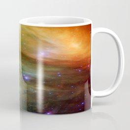 Galaxy : Pleiades Star Cluster neBuLa Green Orange Coffee Mug