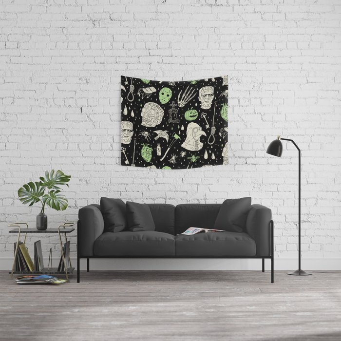 Whole Lot More Horror: BLK Ed. Wall Tapestry