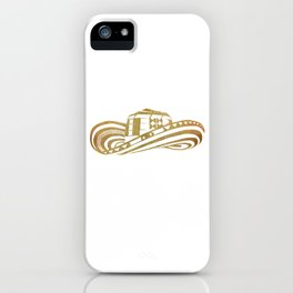 Colombian Sombrero Vueltiao in Gold Leaf Style iPhone Case
