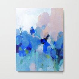 blue summer lilies garden Metal Print