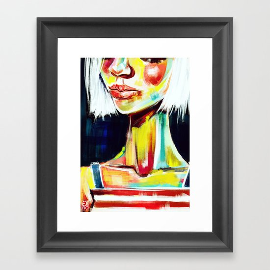 """Glowing 7"" Framed Art Print"