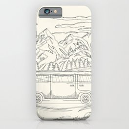 Mountain Road Linescape iPhone Case