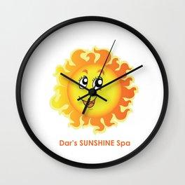 Dar's SUNSHINE Spa Wall Clock