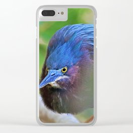 The Green Heron at Ding II Clear iPhone Case