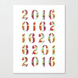 2016 Canvas Print