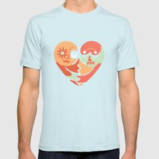 Heart #1 Mens Fitted Tee Light Blue SMALL