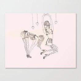 Little Pinups 2 Canvas Print