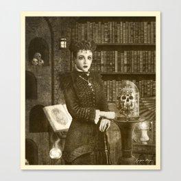 Dark Victorian Portrait Series: The Royal Necromancer of the British Empire Canvas Print