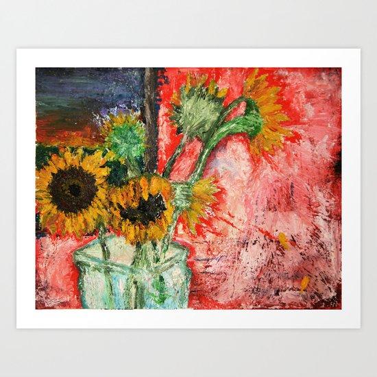"""Ballad of the Sunflowers"" Art Print"