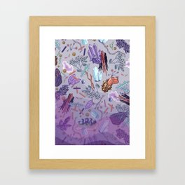 violet mountain dreams Framed Art Print