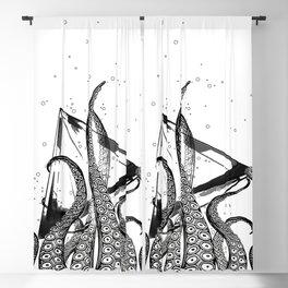 Kraken attacks the prism of life Blackout Curtain