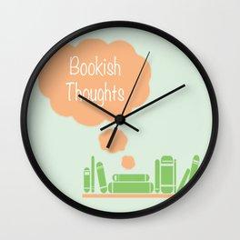 Bookish Thoughts Wall Clock
