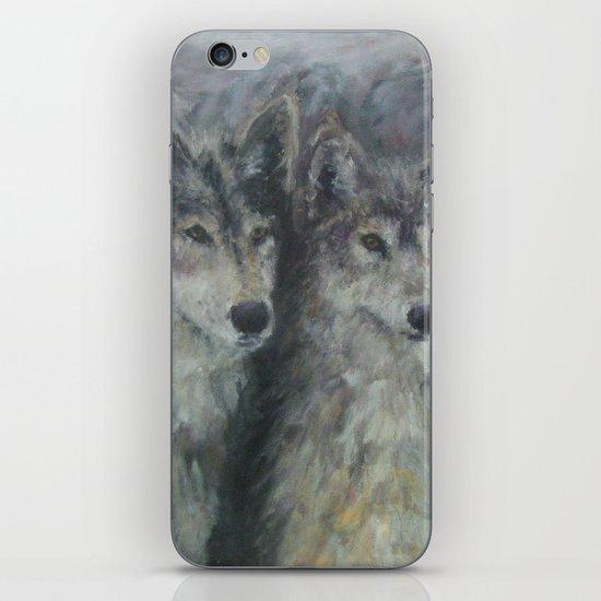 Wolf Couple iPhone & iPod Skin