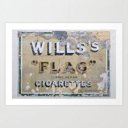 Wills's Flag Art Print