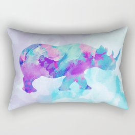 Abstract Rhino B Rectangular Pillow