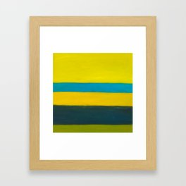 yellow blue Framed Art Print