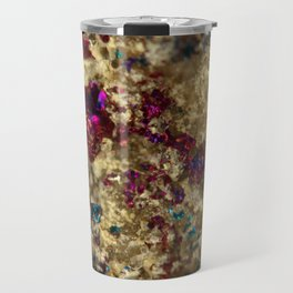 Golden Oil Slick Quartz Travel Mug