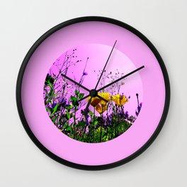 flower field abstract IX Wall Clock