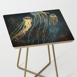 Metallic Jellyfish Side Table