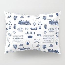 Railroad Symbols // Navy Blue Pillow Sham