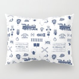 Railroad Symbols // Navy Blue Pillow Sham