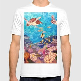Zach's Seascape - Sea turtles T-shirt
