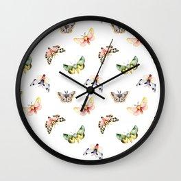 Autumn Moths Wall Clock