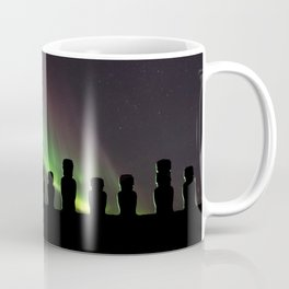Northern Lights Easter Island Moai Coffee Mug