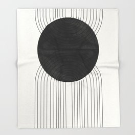 Line Art and Circle Throw Blanket