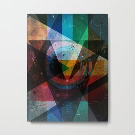 Abstract symbolic geometric composition Metal Print