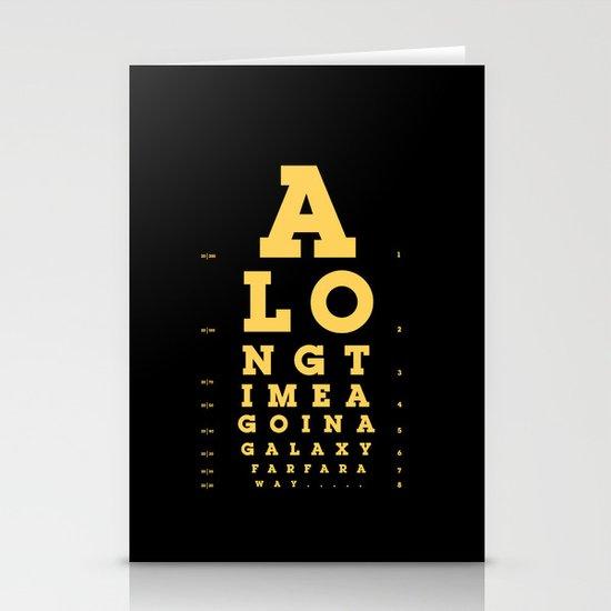 Jed Eye Chart Stationery Cards