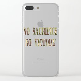 Inspirational Victorious Tee Design Sacrifice Clear iPhone Case