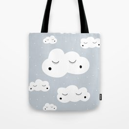 clouds and dots Tote Bag