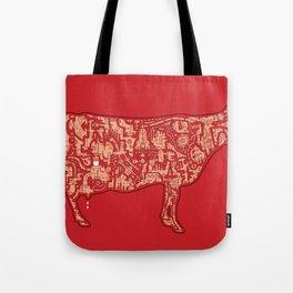Milk Factory Cow Tote Bag