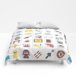 CUTE NINJA PATTERN Comforters