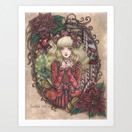 Candy Christmas Art Print