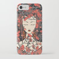 sleeping beauty iPhone & iPod Cases featuring Sleeping Beauty  by Paula Belle Flores