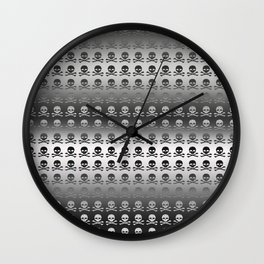 Skull and XBones - Smaller: Metal and Slight Pink Wall Clock