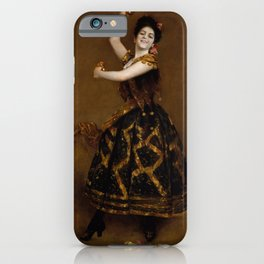 Carmencita by William Merritt Chase - Vintage Victorian Retro Fine Art Oil Painting iPhone Case